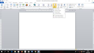 Cara Membuat Halaman Yang Bebeda Pada Dokumen di Microsoft Word, cara membuat nomor halaman pada microsoft word, panduan microsoft word, belajar membuat dokumen microsoft word, tutorial belajar microsoft word,