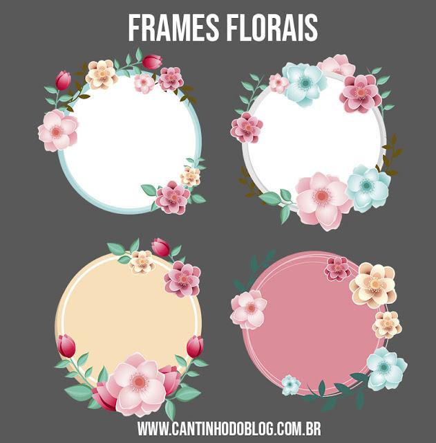 Frames florais dia das mães grátis para baixar