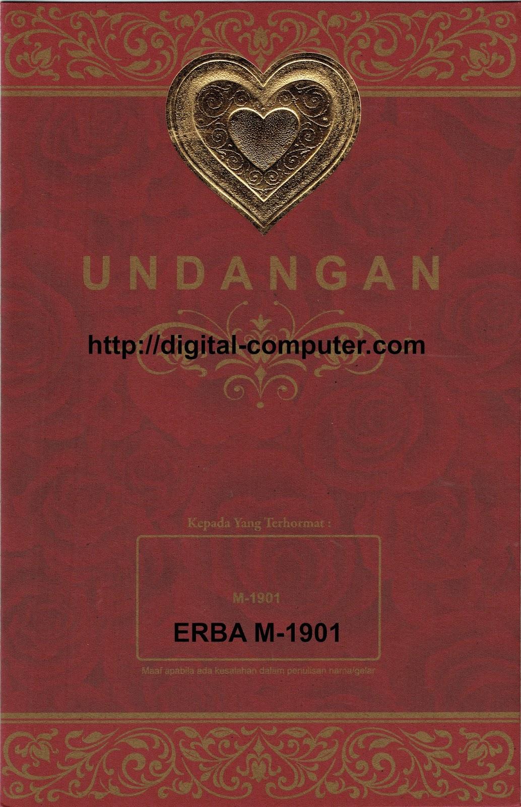 Undangan Softcover ERBA M-1901