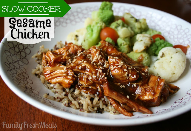Sweet Slow Cooker Sesame Chicken Recipe Family Fresh Meals
