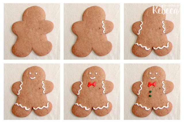 Receta de galletas de jengibre (gingerbread men cookies) 08