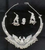 Traditional Indian Silver Jewellery Set
