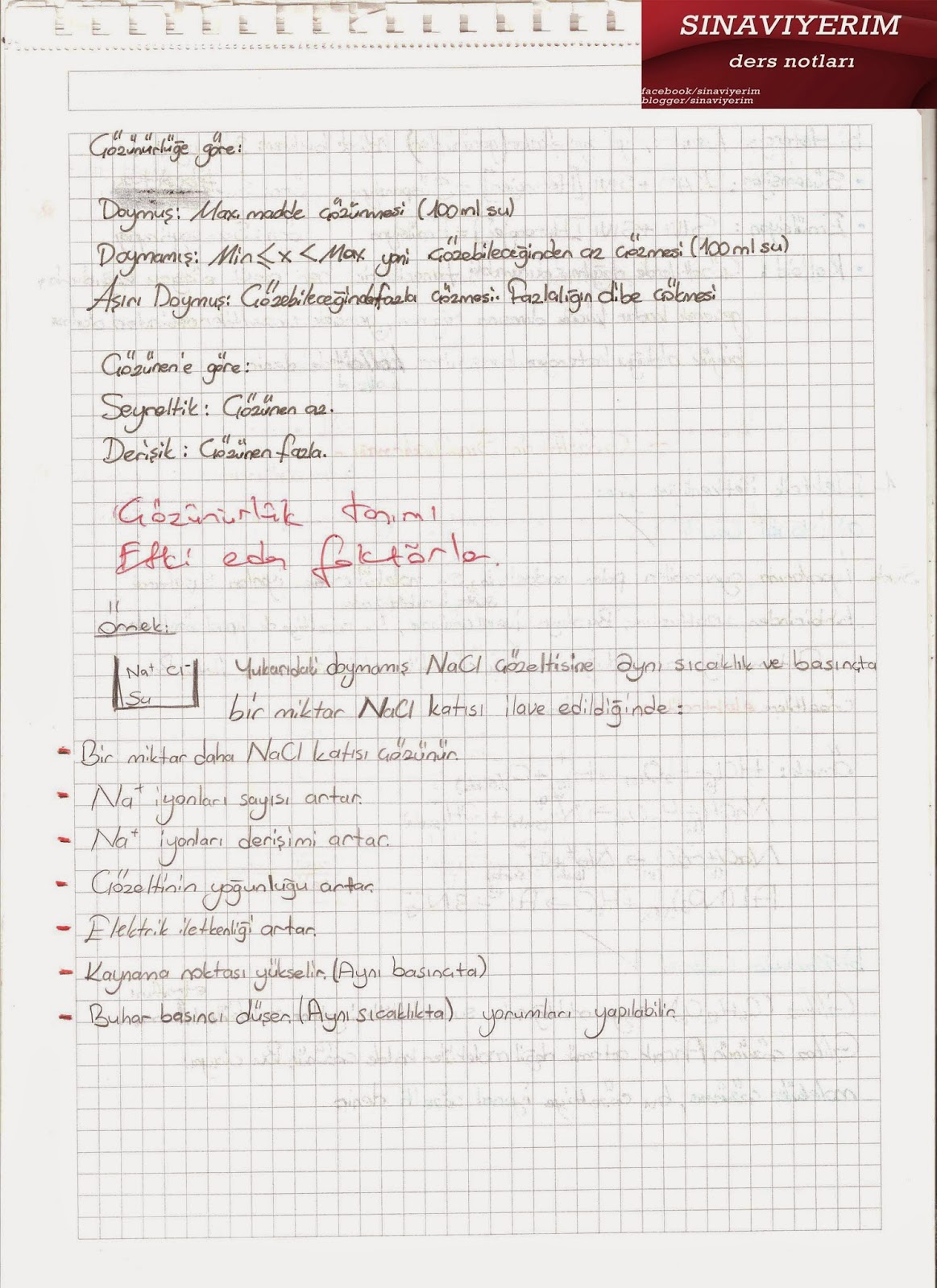 Kimya ders notları ygs lys