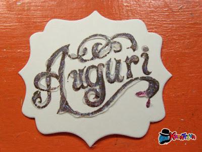 come decorare un timbro con glitter