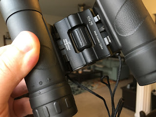 under side of binoculars