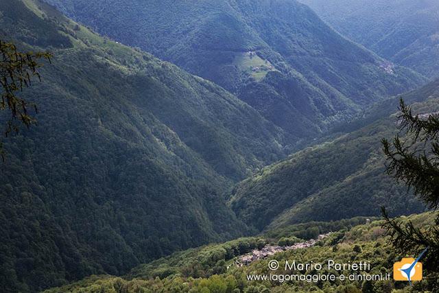 Panorama sulla valle Veddasca con Curiglia