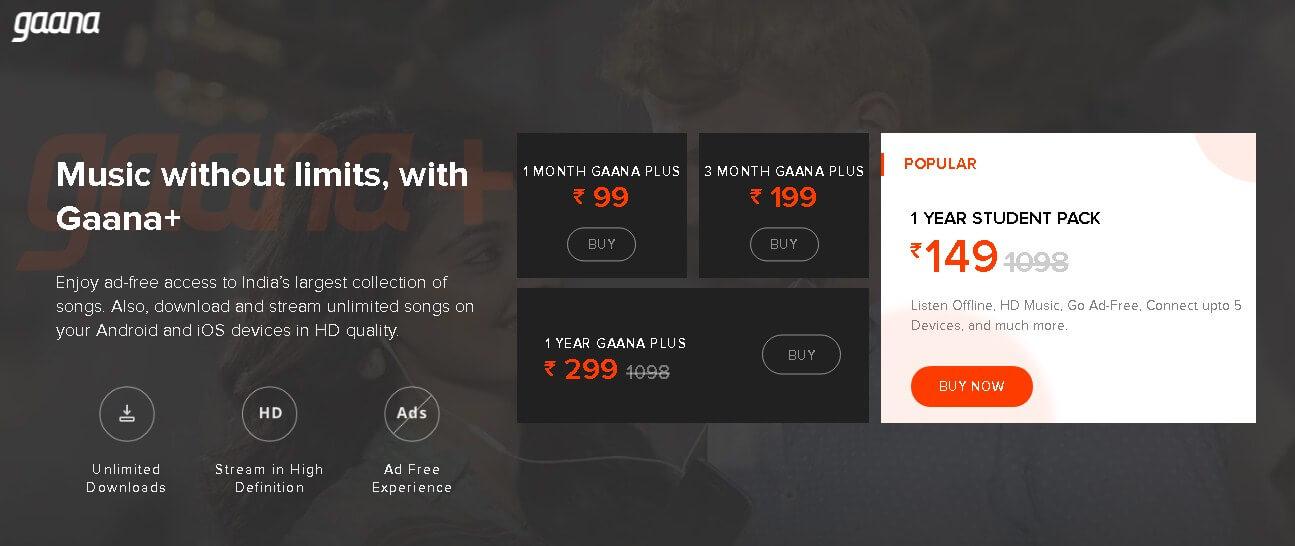 Spotify vs Gaana vs Jiosaavn In Hindi 2019 [कोनसा