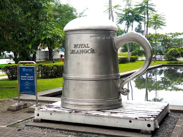 Royal Selangor world's largest pewter tankard, Kuala Lumpur, Malaysia