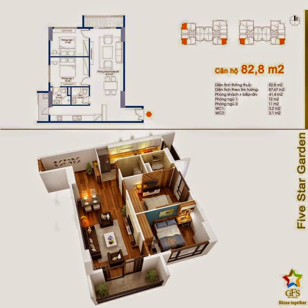 Căn 82,8 m2
