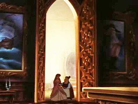 El cuadro del rey de La Cenicienta en la película La sirenita de Disney - Cine de Escritor