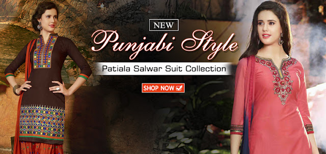 New Designer Party Wear and Wedding Wear Punjabi Patiala Salwar Suits Online