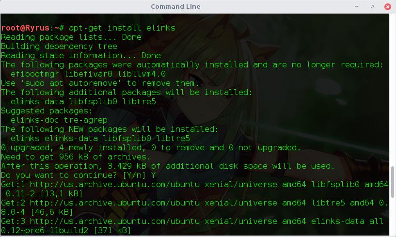 Cara Browsing Melalui Terminal Linux
