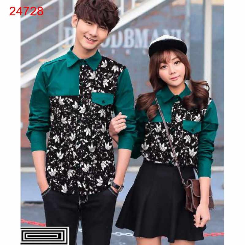 Jual Kemeja Couple Adidas Pocket Tosca - 24728