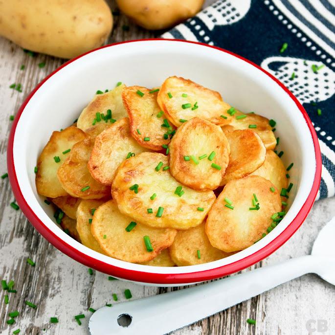 Heerlijke zelfgebakken aardappeltjes