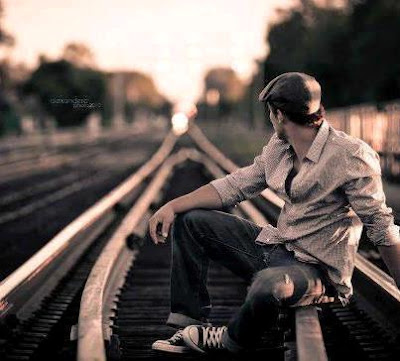 sad alone boy dp image and cover
