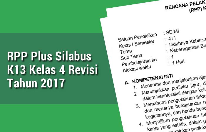 RPP Plus Silabus K13 Kelas 4 Revisi Tahun 2017