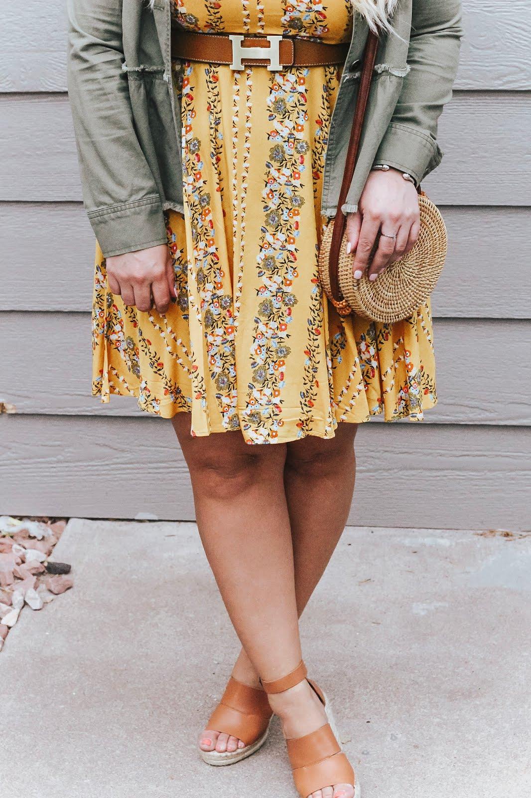 Yellow Summer Dress featured by popular Colorado fashion blogger, Delayna Denaye