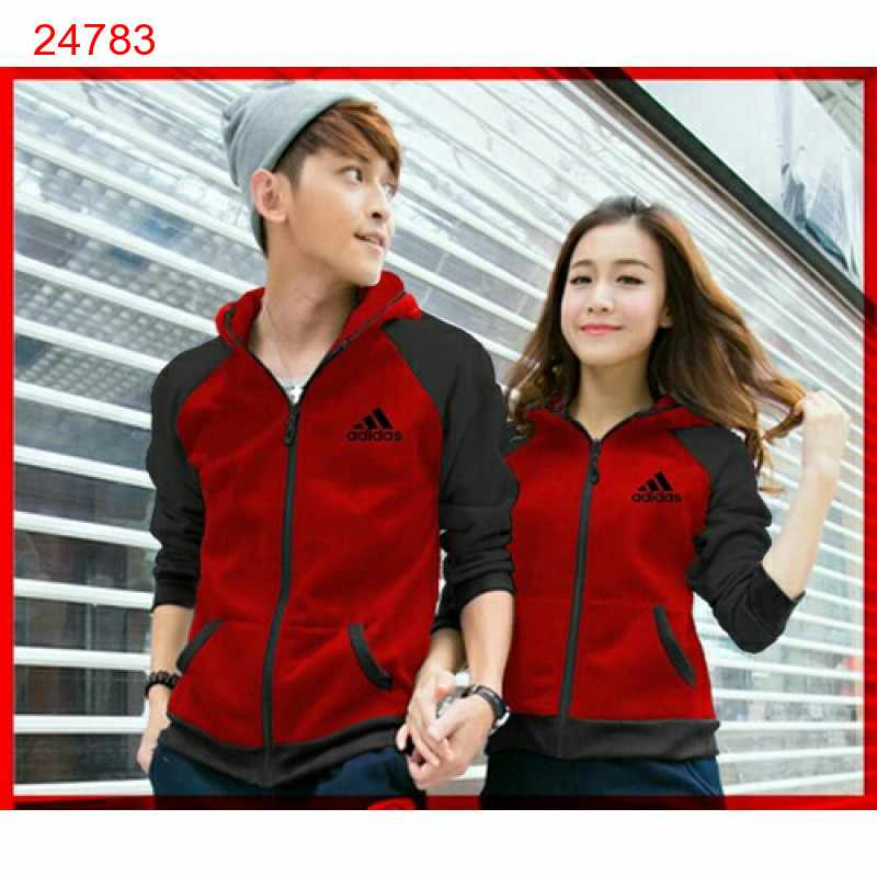 Jual Jacket Couple Jaket Adidas Campus Red - 24783
