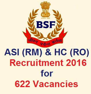 BSF ASI & HC recruitment 2016