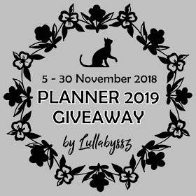 Planner 2019 Giveaway by Lullabyssz, segmen blogger,