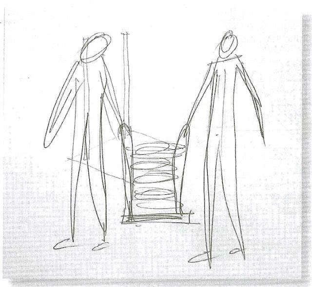 Contoh sketsa ide untuk pembawa dengan tenaga manusia.