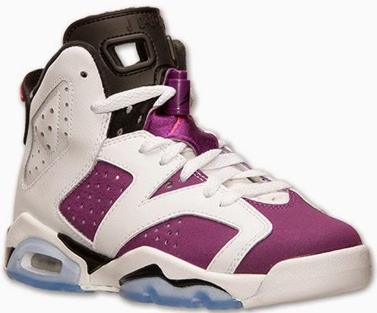 competitive price 31d8b 2b122 Girl s Air Jordan 6 Retro GS White Vivid Pink-Bright Grape-Black Release  Reminder