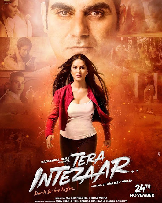 Sunny Leone is waiting for someone, the poster of film TERA INTEZAAR released ... - Flownik