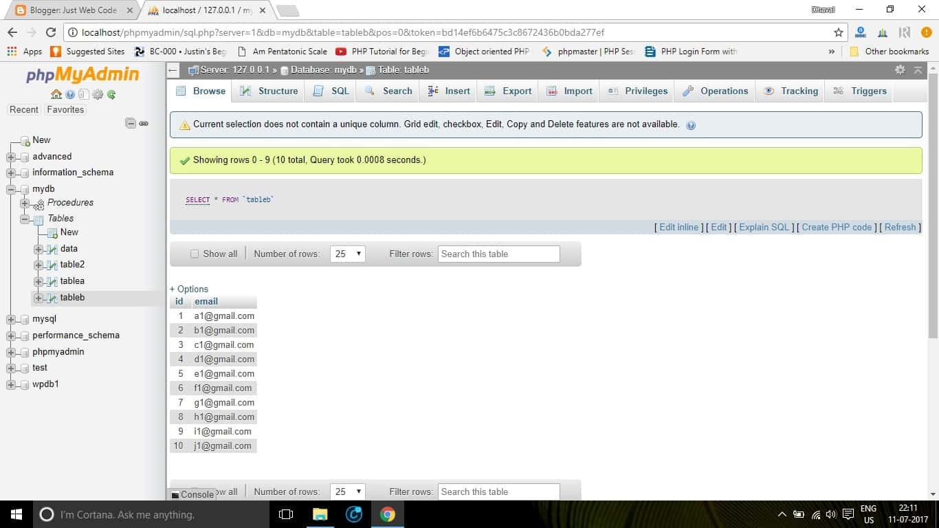 Import csv file to mysql using php or phpmyadmin just web code csv data to different tables gamestrikefo Gallery