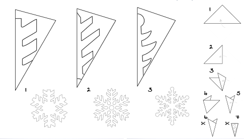 """Résultat de recherche d'images pour """"copo de nieve papel"""""""