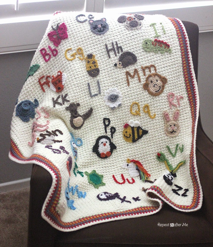 Repeat Crafter Me Crochet Animal Alphabet Afghan