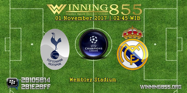 Prediksi Akurat Tottenham vs Real Madrid | 02 November 2017