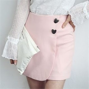 Pink Mini Skirt from YesStyle.com