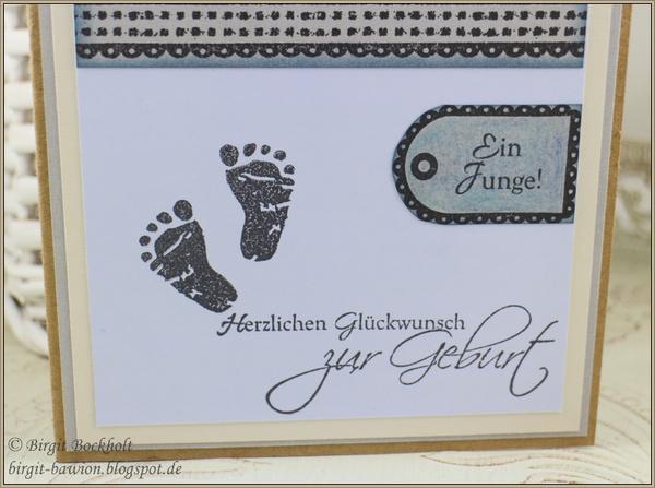 Glückwunschkarte zur Geburt eines Jungen