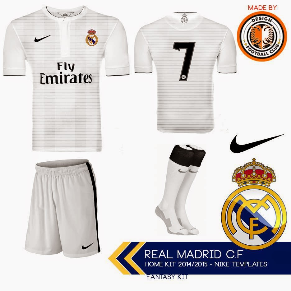Design Football Club  Real Madrid vestindo Nike 3b3e89824b4cc