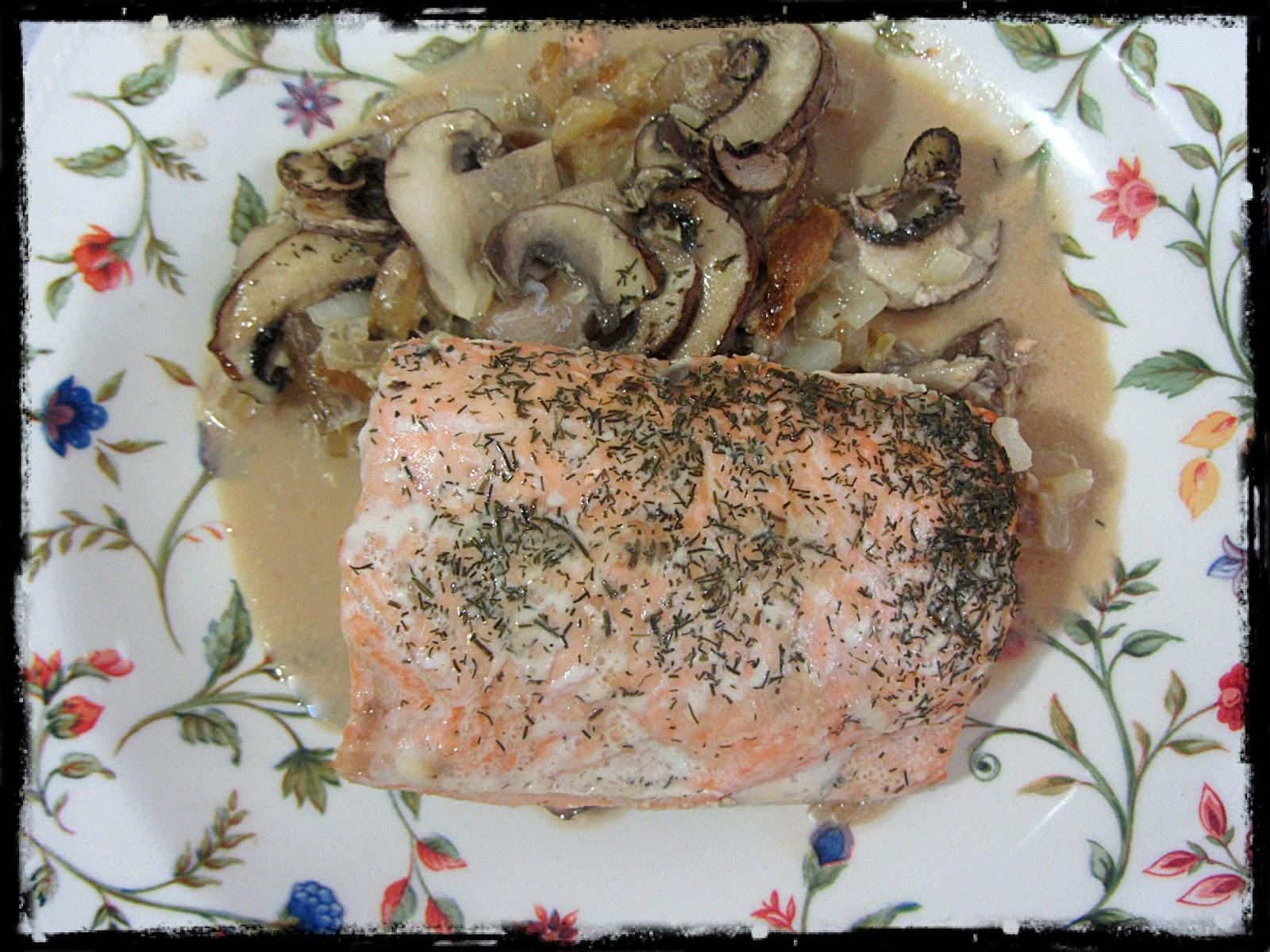 Salm n en salsa de soja cebolla y setas recetas de cocina for Como se cocinan las setas