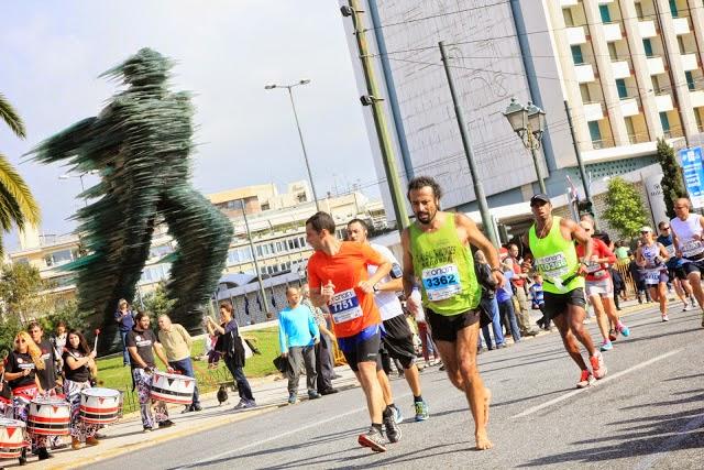 Foto de Emilio Saez, Maratón de Atenas 2014