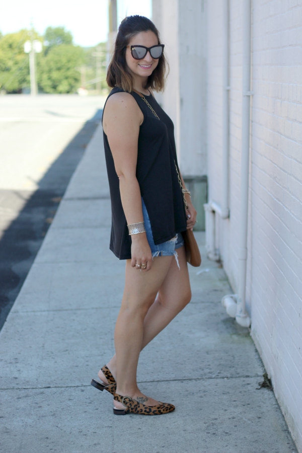 leopard slingbacks, sole society shoes, how to style leopard shoes, casual style