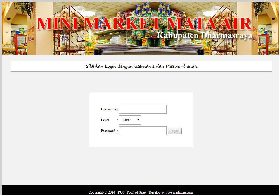 Source Code Point Of Sale Dengan Php Mysql Idwebgit