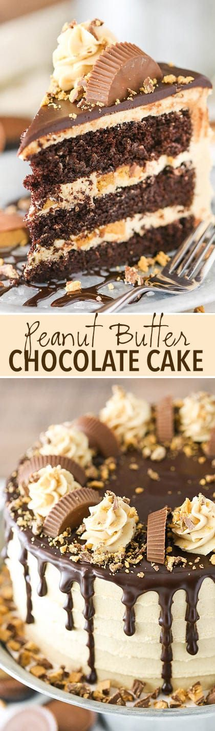 PEANUT BUTTER CHOCOLATE LAYER CAKE RECIPES