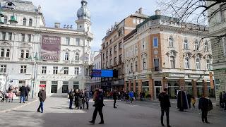 Bosnian city center