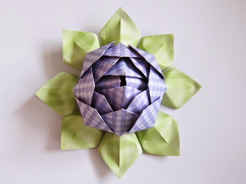 lotus flower origami ~ origami flower easy - photo#18