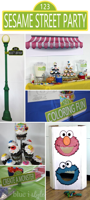 A Sesame Street Second Birthday Party