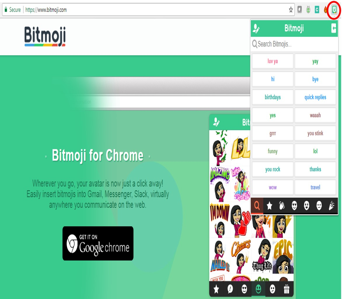 By Photo Congress || Bitmoji Chrome Sign Up