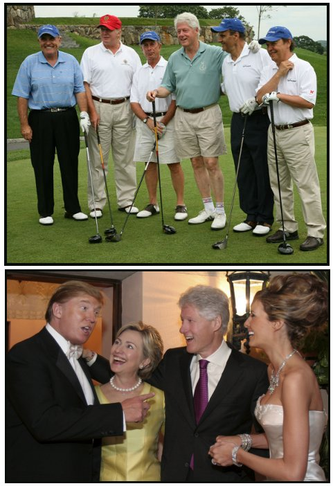Donald Trump and Bill Clinton
