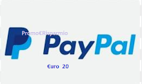 Logo Vinci gratis un premio sotto forma di trasferimento da 20€  sul tuo account PayPal