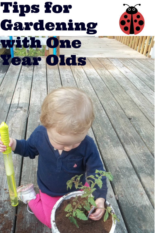 One day at a time tips for gardening with a one year old for Gardening tools for 6 year old