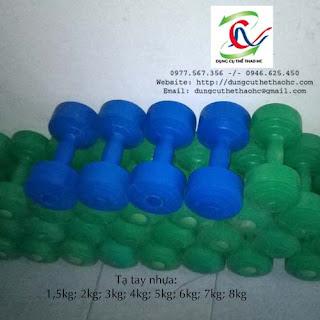 Tạ tay nhựa