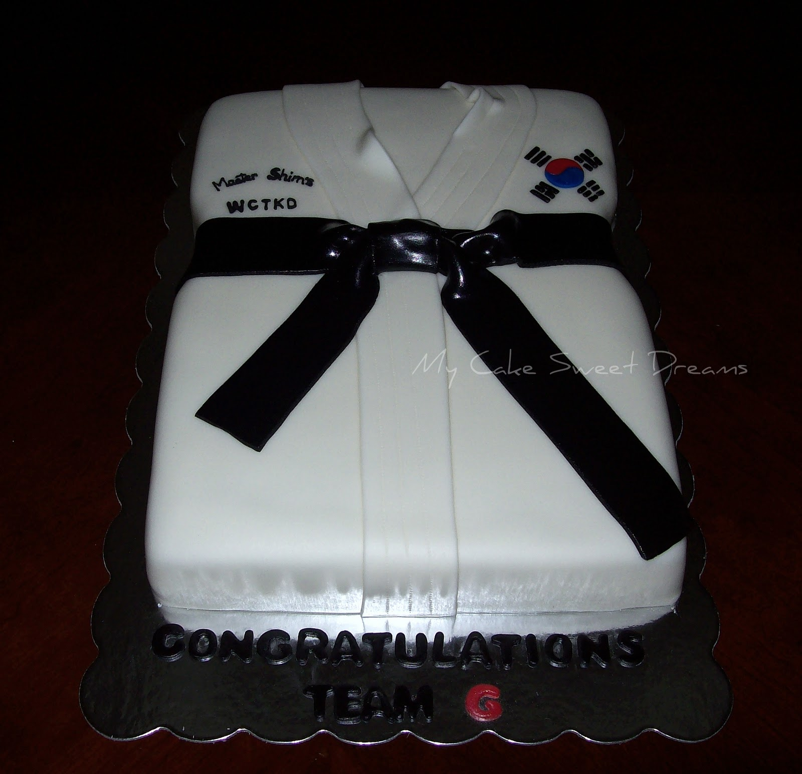 My Cake Sweet Dreams Tae Kwon Do Cake
