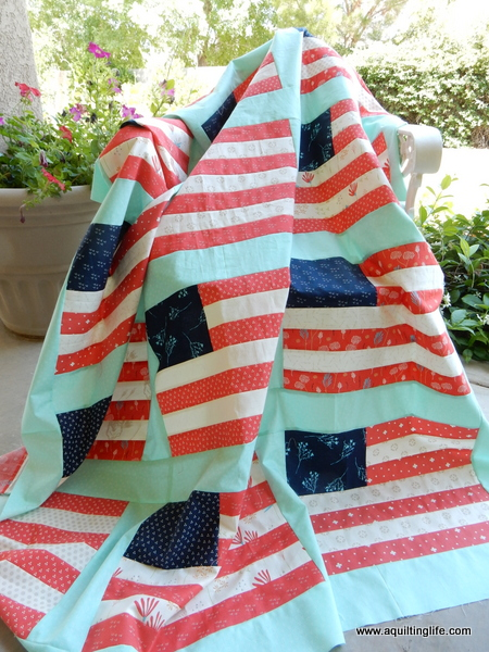 Desert Bloom 4th of July Quilt | A Quilting Life - a quilt blog : stars and stripes quilt - Adamdwight.com