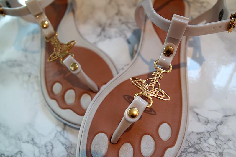 Vivienne Westwood Sandals Gold Orb